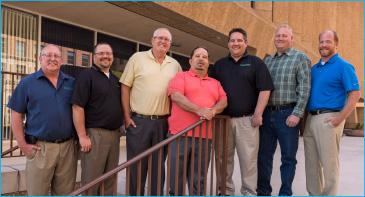 PeopleService Region Managers (l to r): Herb Krueger, Greg Stang, Duane Grashorn, Dennis White, Steve Robinette, Paul Christensen and Steve Guthrie.