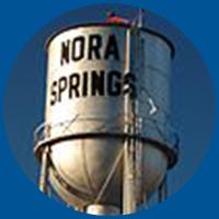 Nora Springs water tower